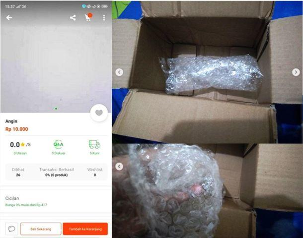 Pria Ini Iseng Pesan Angin Via Online Shop! Lihat Apa Yang Didapat Selanjutnya Gan