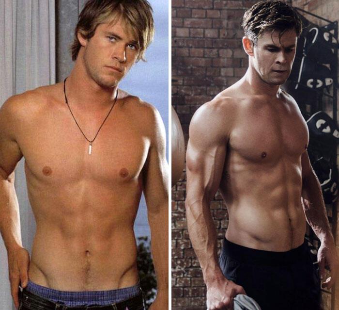 Baru tau, ternyata begini bentuk tubuh para aktor superhero sebelum dipanggil Marvel