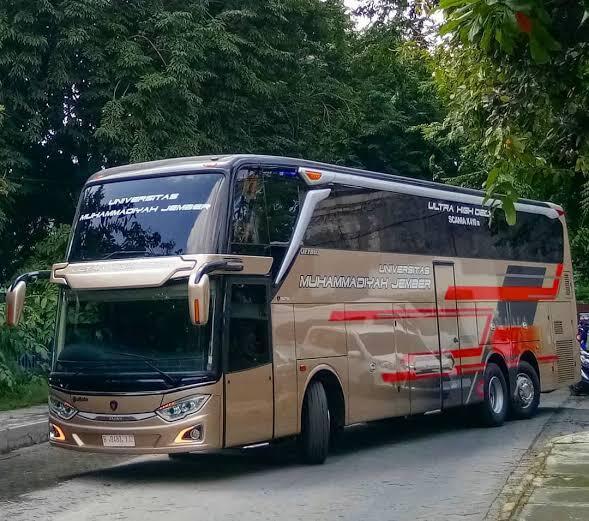 Gila..!! Ada Bus Mewah Di Universitas Muhammadiyah Jember...