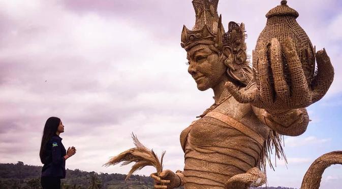 Lebih Murah dari Getih Getah, Instalasi Bambu Dewi Sri di Jatiluwih Bikin Kagum