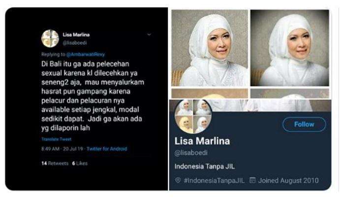 Dianggap Lecehkan Perempuan Bali, Berikut 5 Fakta Soal Lisa Marlina