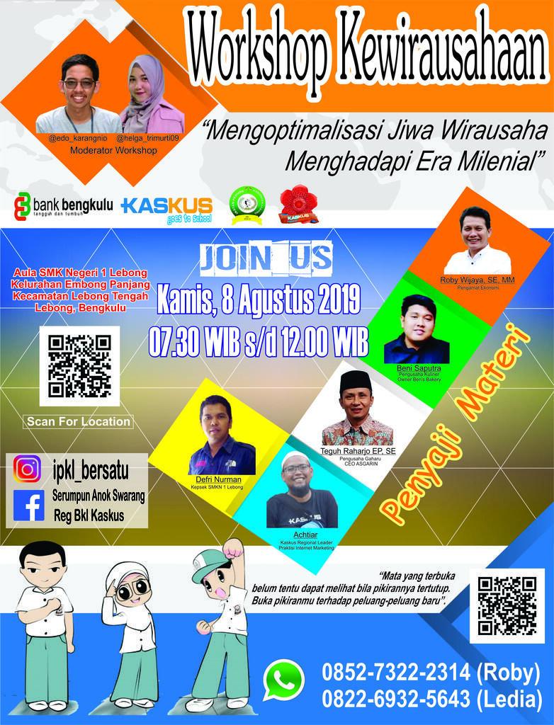 [Invitation] Workshop Kewirausahaan Kaskus Goes To School