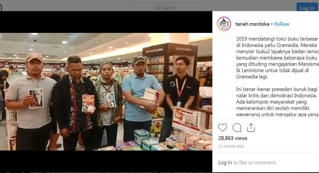 Respons Gramedia Soal Aksi Sweeping Buku Diduga Berbau Komunis