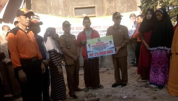 Gubernur Banten Gerak Cepat Beri Bantuan Korban Gempa