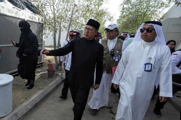 Jelang Puncak Haji, Amirul Hajj Cek Persiapan Armuzna
