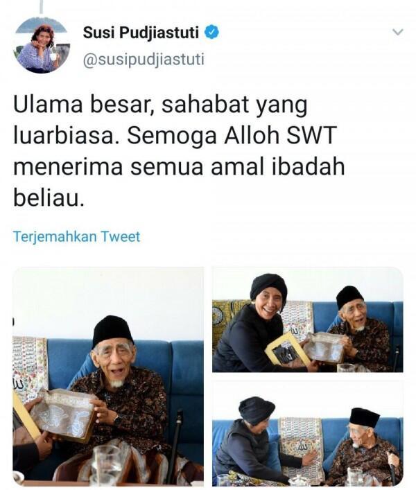 Menteri Susi Ungkap Kenangan Bersama Mbah Moen