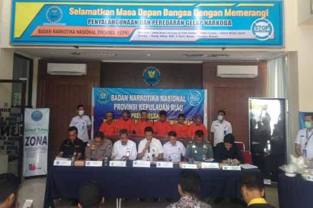 BNNP Kepri Musnahkan 27 Kg Lebih Sabu dan Tangkap 6 Tersangka