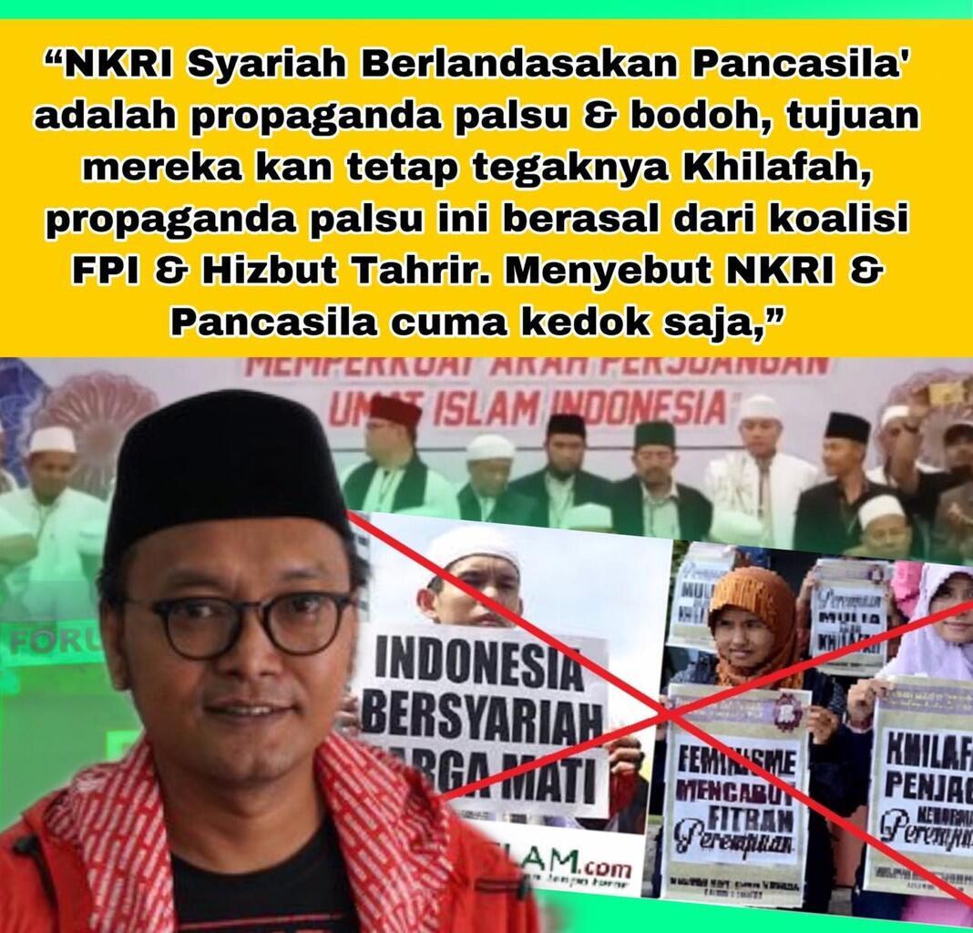 Awas Khilafah Berkedok Syariah, Menolak Gagasan NKRI Syariah berdasarkan Pancasila