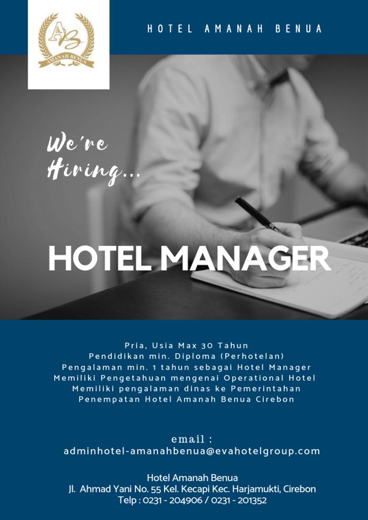 Lowongan Kerja Posisi Hotel Manager