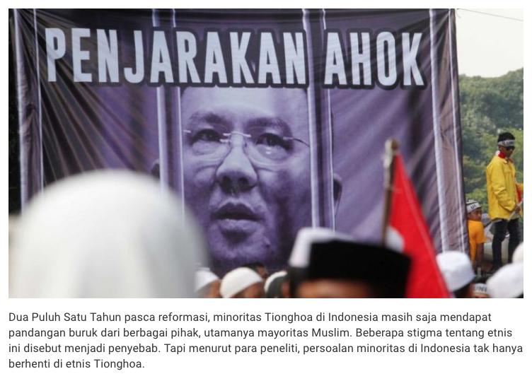 Problem Minoritas di Indonesia Tak Hanya Berhenti di Etnis Tionghoa