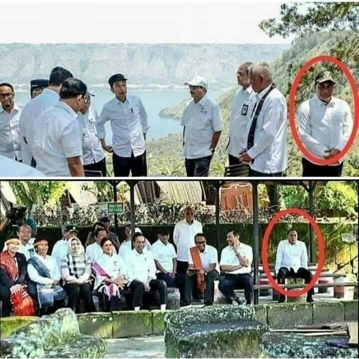 Beredar Foto Gubernur Edy Tersingkir dari Rombongan Presiden di Samosir