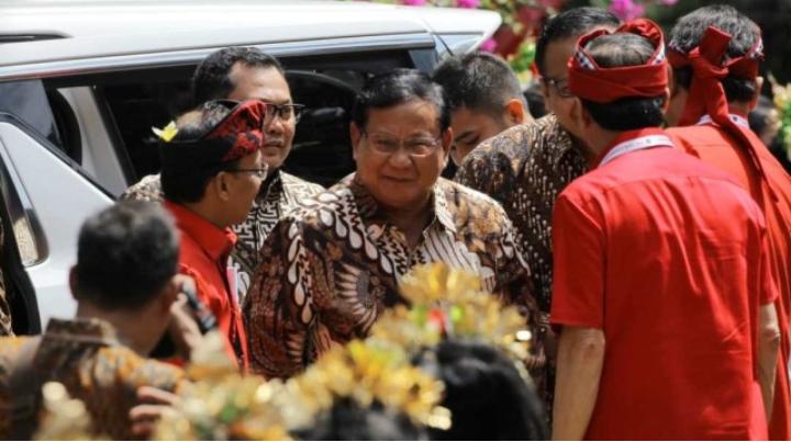Hadiri Kongres PDIP, Prabowo Disambut Teriakan 'Hidup Prabowo'