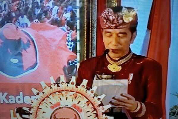 Pakai Baju Adat Bali di Acara PDIP, Jokowi Minta Maaf ke Prabowo