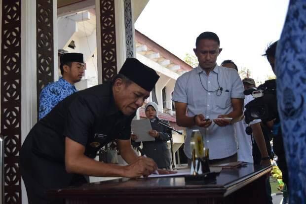 Wali kota Palu melantik 252 Pejabat