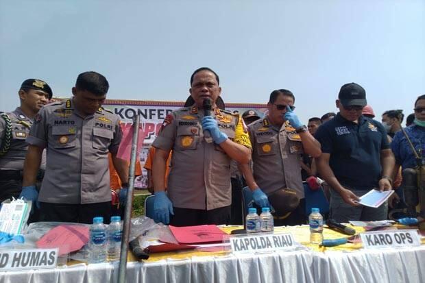 Polda Riau Tetapkan Perusahaan Kelapa Sawit Tersangka Karhutla