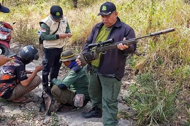 2 Pemburu Liar Ditangkap Polisi Hutan TNGC
