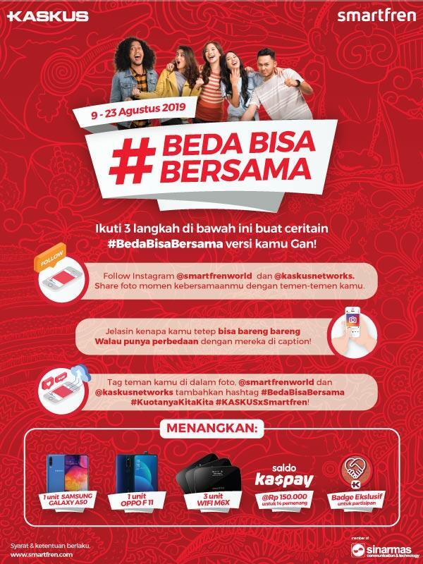 Smartphone & Saldo KasPay By Smartfren untuk Kaskuser yang Tunjukin #BedaBisaBersama