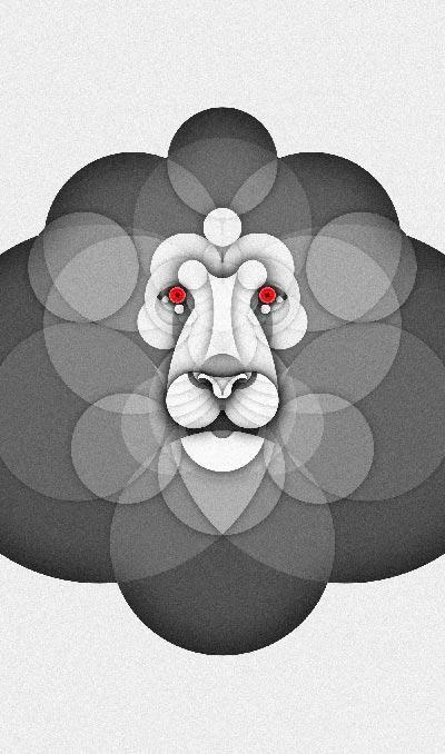 Sumpah, Illustrasi Hewan Ini Keren Banget Di Buat Dari Bentuk Lingkaran!