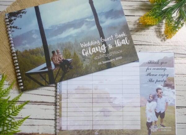 10 Referensi Buku Tamu Pernikahan di Bawah Rp100 Ribuan