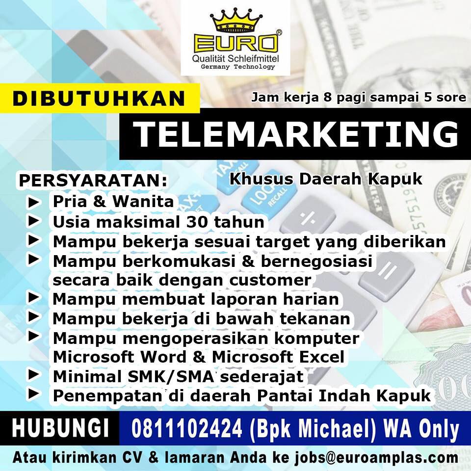 Loker TELEMARKETING - Distributor & Toko Online Bahan Bangunan di PIK Kapuk