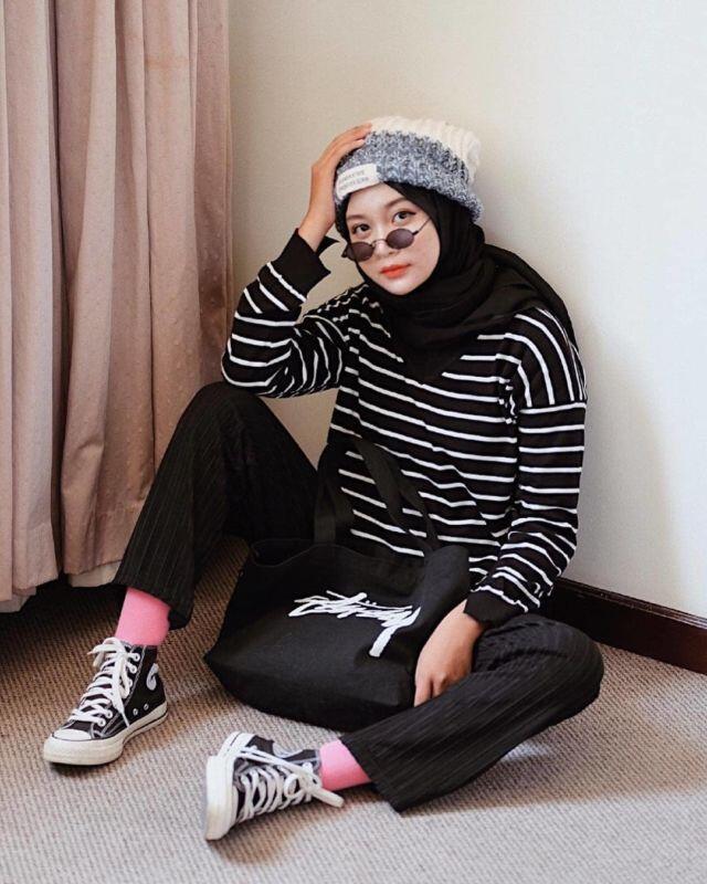 Fashion Hijab Wanita Style Kekinian Terbaru