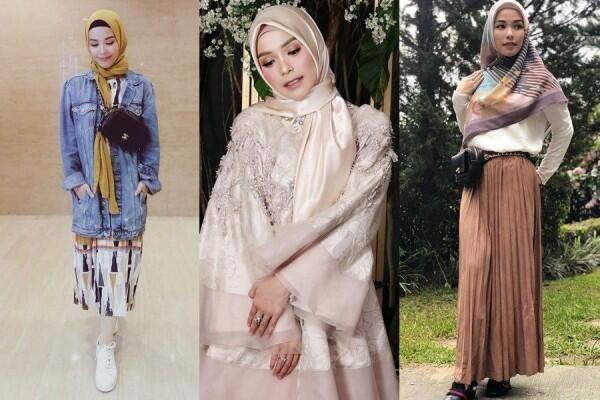 8 Inspirasi Gaya Hijab Stylish ala Metha Yunatria, Istri Uki eks NOAH
