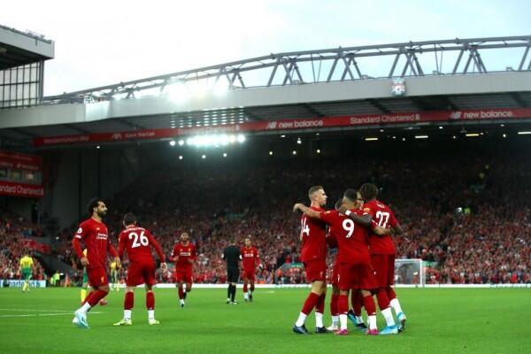 Membuka Premier League 2019/2020, Liverpool Bantai Norwich