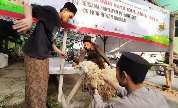 Bank DKI Sebar Kurban ke 100 Mesjid di Jakarta