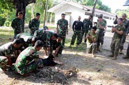 Marinir Indonesia Kenalkan Tradisi Idul Adha kepada Marinir Amerika