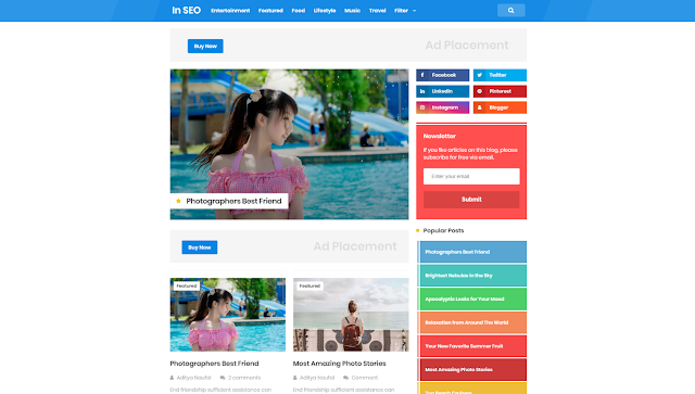 InSeo PRO Free BLOGGER TEMPLATE