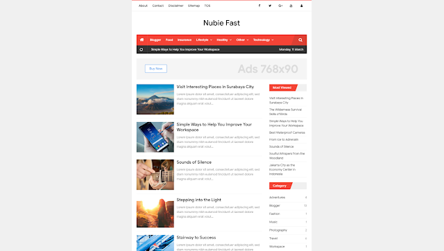 Download Nubie Fast PREMIUM Blogger TEMPLATE