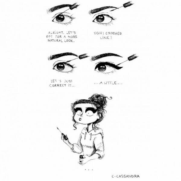 10 Potret Ilustrasi Ekspektasi vs Realita Para Cewek Saat Berdandan
