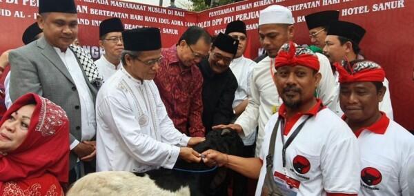 Usai Kongres V, Kader PDIP Rayakan Idul Adha di Pulau Dewata