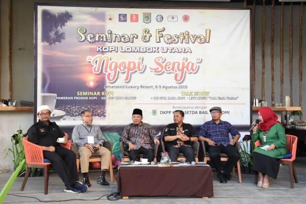 Pertemukan Pengusaha dan Petani Kopi, Bupati Buka Festival Kopi Lombok Utara