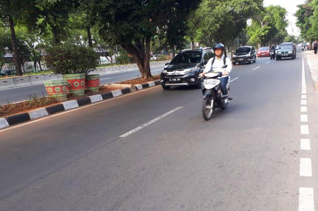 Uji Coba Perluasan Ganjil Genap, Ruas Jalan Pramuka Lengang