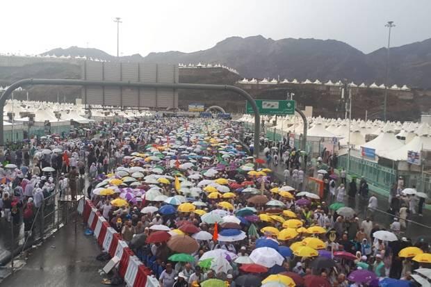 Hujan Deras Kembali Guyur Mekkah, Tenda Jamaah Dipastikan Aman