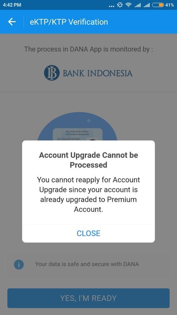 Janji bonus upgrade Premium DANA tidak ada realisasinya