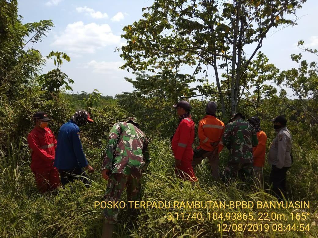 Petugas Gabungan Posko 05 Banyuasin Patroli Pencegahan Karhutla di Desa Rambutan