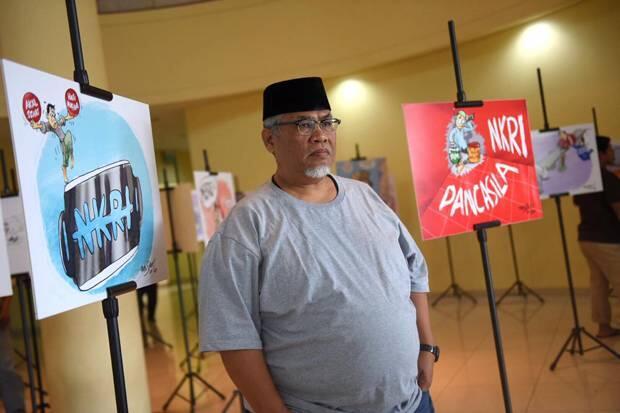 Sambut Hari Kemerdekaan, PKS Pamerkan Karya Sejumlah Kartunis