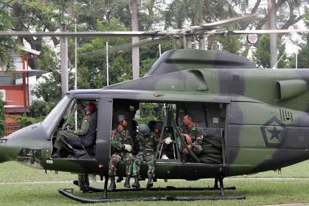 TNI AD Kirim 8 Drone Cari Heli MI 17 yang Hilang di Papua