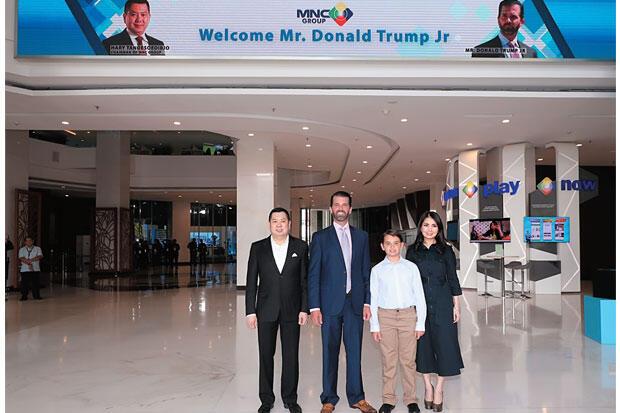 Donald Trump Jr Temui Hary Tanoesoedibjo