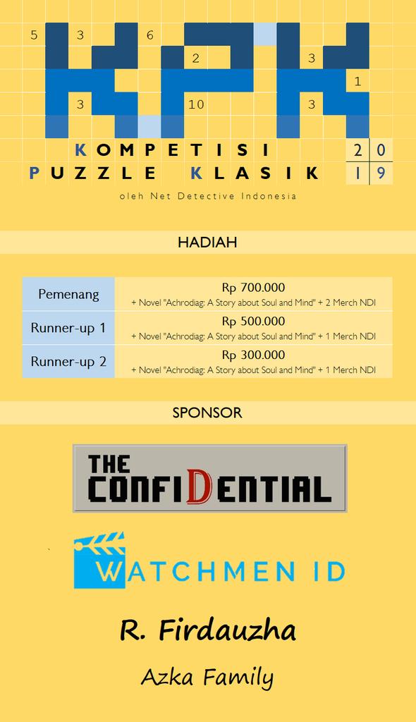 Kompetisi Puzzle Klasik 2019