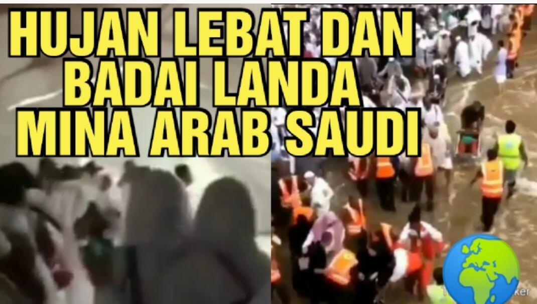 Hujan Badai Landa Kota Mina Arab Saudi