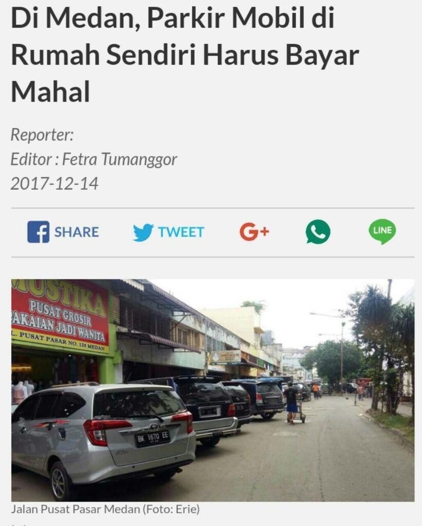 """Bisnis """"Liar"""" Perparkiran Kota Medan, Siapa Diuntungkan?"""