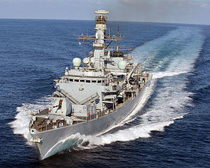 Target of HMS Kent Frigate For deployment in the Persian Gulf