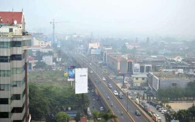 Keluhkan Asap, Pengendara di Kota Pekanbaru Gusar