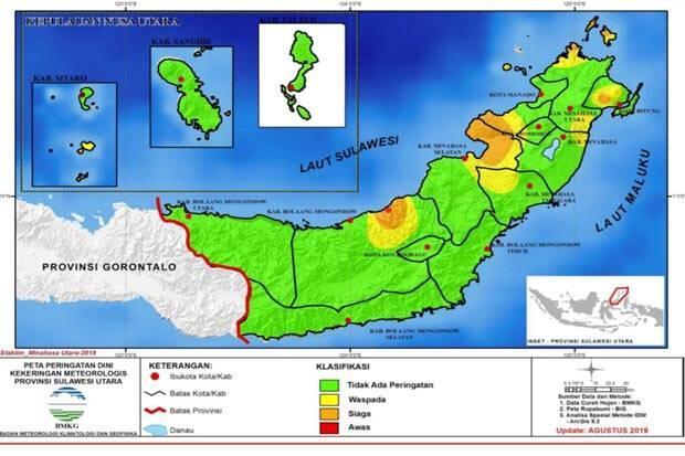 BMKG Ingatkan Ancaman Bencana Kekeringan di Sulawesi Utara