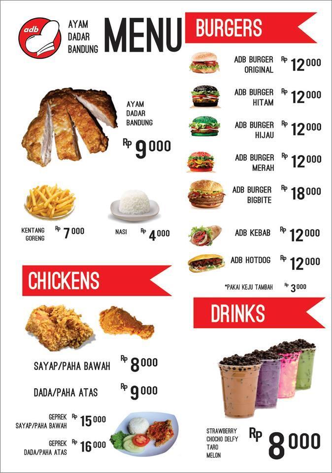 Franchise Waralaba kuliner Ayam Dadar Bandung ADB