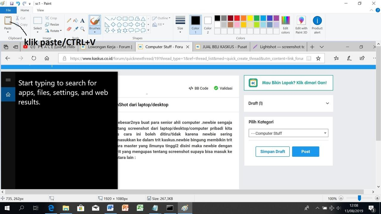 Cara Sederhana Membikin ScreenShot dari laptop/desktop