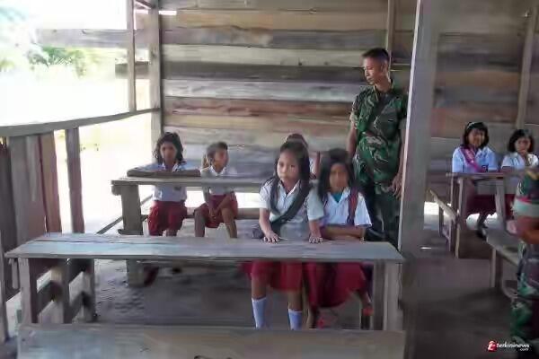 TNI Pelita Pendidikan Di Perbatasan